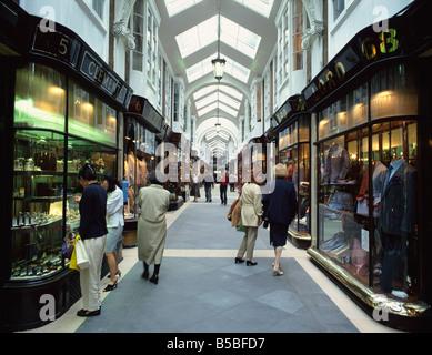 Burlington Arcade, London, England, Europe - Stock Photo