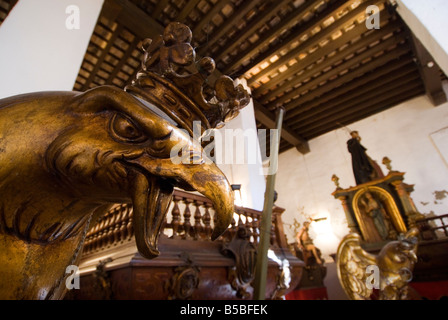 Detail of processional effigies in the Casa de las Rocas used during the Corpus Christi festival in Valencia Spain - Stock Photo