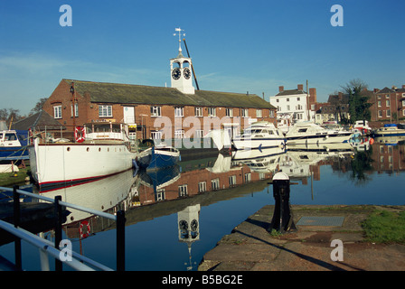 Canal basin, Stourport on Severn, Worcestershire, England, Europe - Stock Photo