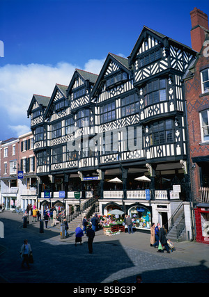 The Rows, Bridge Street, Chester, Cheshire, England, Europe - Stock Photo