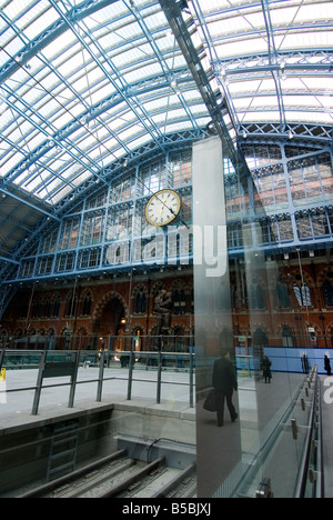 St. Pancras International Train Station, London, England, Europe - Stock Photo