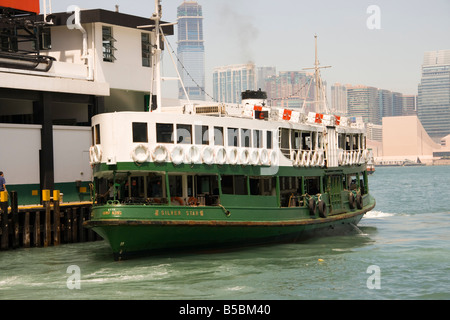 Star ferry terminal on Hong Kong island - Stock Photo