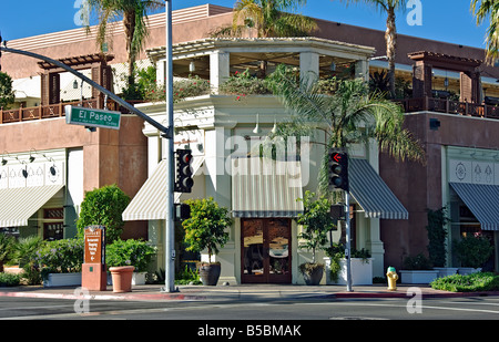 Tommy Bahama, Palm Desert CA ,El Paseo Drive, Shopping, shops, clothing, boutiques, Jeweler, restaurant,  picture - Stock Photo