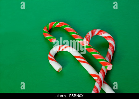 Candy canes close-up - Stock Photo