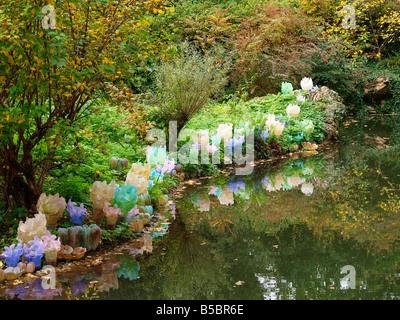 Jardins de Cristal Parc de Bagatelle Paris, Rives d'Amaryllis by Daum - Stock Photo