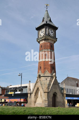 Famous Clocktower monument in Skegness Lincolnshire England UK - Stock Photo