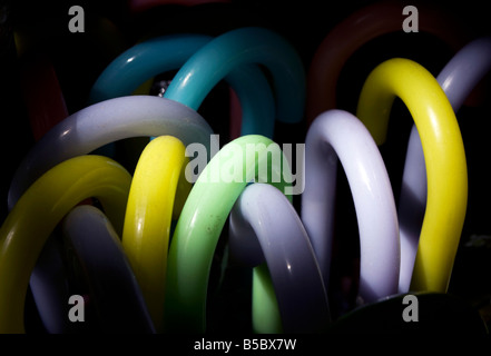 Plastic umbrella handles in a shop in China town in the neighbourhood of Belgrano in Buenos Aires the capital of - Stock Photo