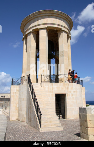 The 'Great Siege Bell', Monument in Valletta, Malta. - Stock Photo