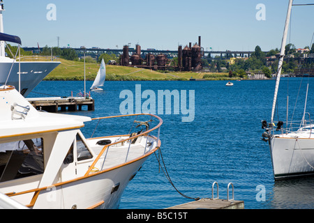 Gas Works Park on north end of Lake Union in Seattle, Washington - Stock Photo