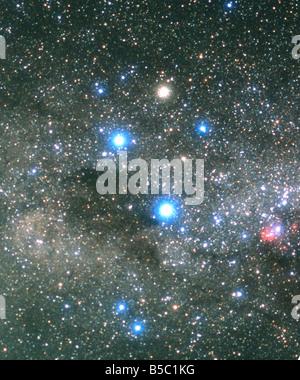 The Southern Cross and Coalsack Nebula - Stock Photo