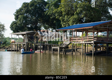 Boat Mooring South China Sea Borneo - Stock Photo