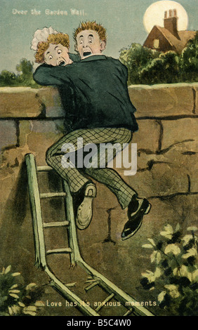 1907 1900s Edwardian Comic Art Postcard EDITORIAL USE ONLY - Stock Photo