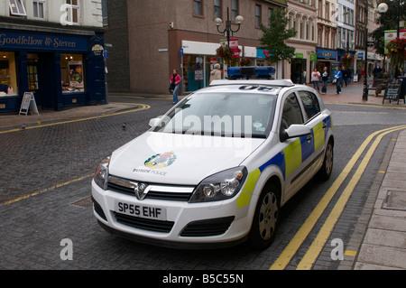 Police car Scotland UK - Stock Photo