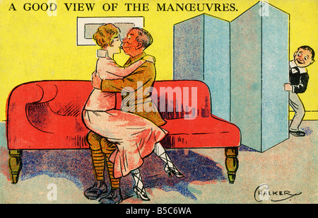 1900s Edwardian Comic Art Postcard EDITORIAL USE ONLY - Stock Photo