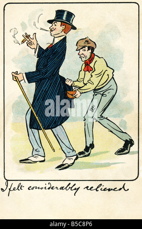 1905 1900s Edwardian Comic Art Postcard EDITORIAL USE ONLY - Stock Photo