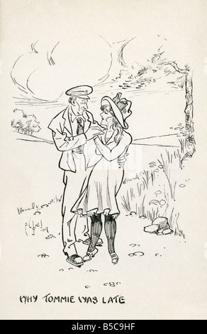 First World War Art Postcard EDITORIAL USE ONLY - Stock Photo