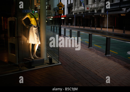 Lambton Quay Wellington New Zealand - Stock Photo