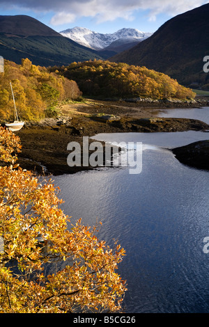 Loch Leven in Autumn, Glen Coe, Lochaber, Scotland. - Stock Photo