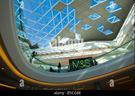 M&S department store Westfield Shopping Centre White City Development W12 London United Kingdom - Stock Photo