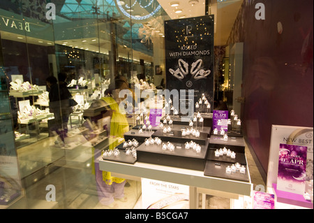 Jewelery shop in Westfield Shopping Centre White City Development W12 London United Kingdom - Stock Photo