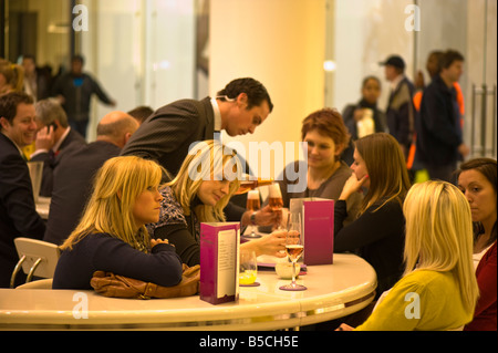 Searcy's Champagne Bar in Westfield Shopping Centre White City Development W12 London United Kingdom - Stock Photo