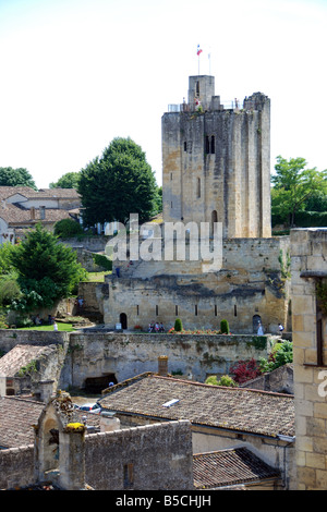 Tower in Saint Emilion, Aquitaine, France. - Stock Photo