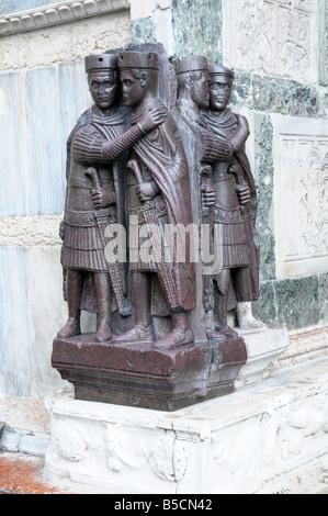 The Four Tetrarchs on Basilica di San Marco, St Mark's Square, Venice, Italy - Stock Photo