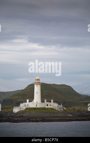 Lismore Lighthouse taken from ferry between Oban and Mull Inner Hebrides Argyll Scotland UK United Kingdom GB Great - Stock Photo