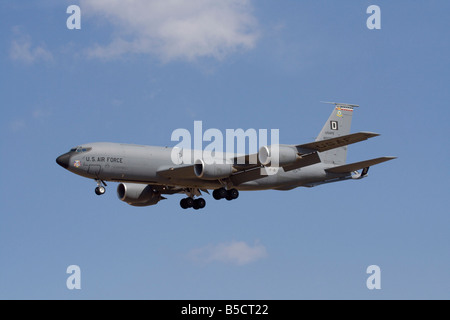 Military aviation. Boeing KC-135R Stratotanker in-flight refuelling aircraft of the United States Air Force - Stock Photo