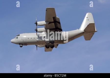 Lockheed C-130H Hercules military cargo plane of the Swedish Air Force - Stock Photo