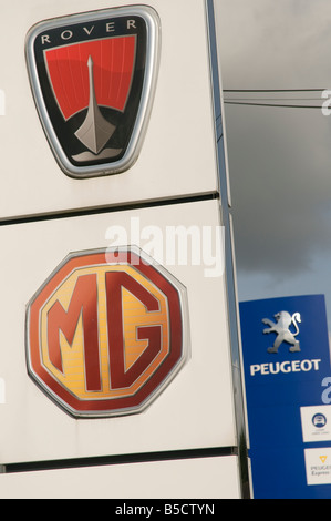Peugeot Logo On A Car Stock Photo 59212989 Alamy