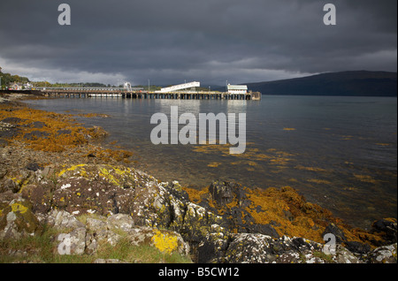 the Caledonian Macbrayne Calmac ferry port terminal at Craignure on the Isle of Mull in scotland - Stock Photo