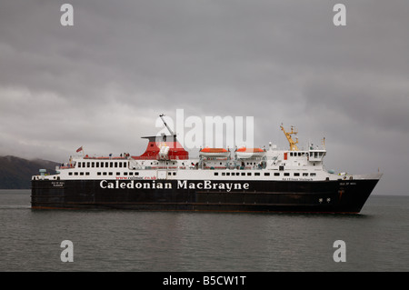 Caledonian MacBrayne CalMac roll on roll off roro car passenger ferry the Isle of Mull An t-Eilean Muileach in the - Stock Photo
