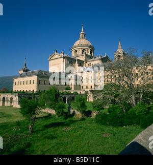 El Escorial in Madrid Spain G R Richardson - Stock Photo