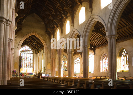 inside St Andrew's Church, Hingham, Norfolk, UK - Stock Photo