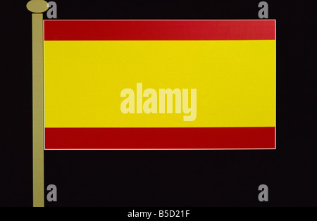 Spanish flag Spain Europe - Stock Photo