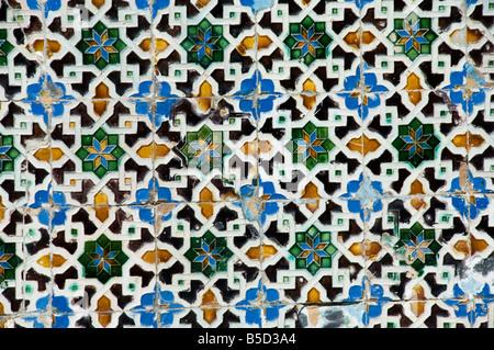 Azulejos tiles in the Mudejar style, Casa de Pilatos, Santa Cruz district, Seville, Andalusia, Spain, Europe - Stock Photo