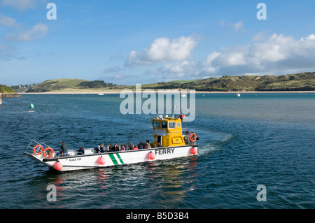Ferry at Padstow Harbour, Cornwall, England - Stock Photo