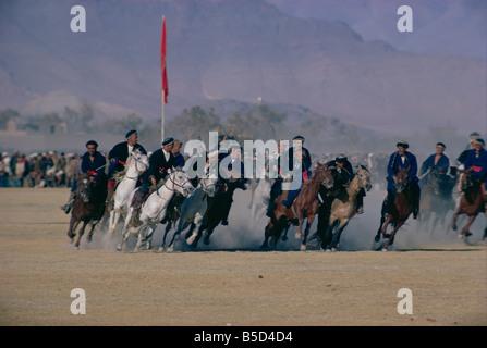 Buzkashi Kabul Afghanistan Asia - Stock Photo