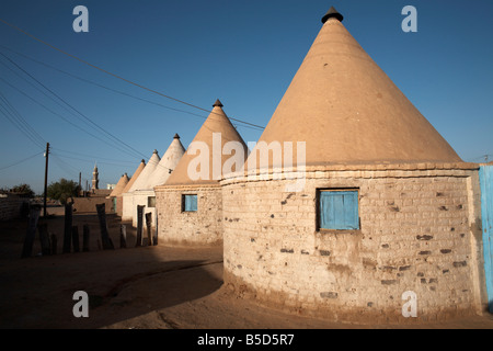 Houses in the town of Karima, Sudan, Africa - Stock Photo