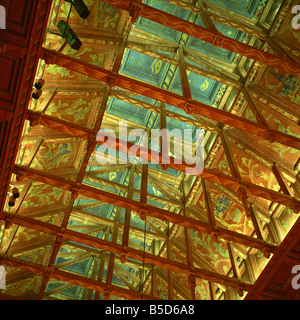 City council chamber ceiling, Stadhuset (Town Hall) dating from 1911 to 1923, Stockholm, Sweden, Scandinavia, Europe - Stock Photo