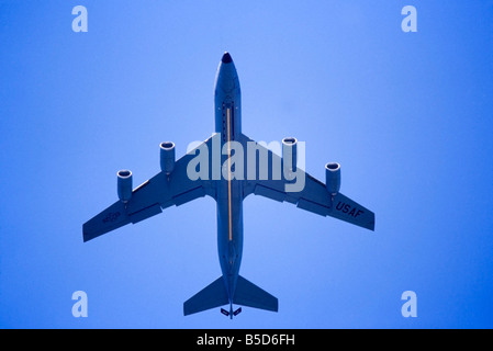 US Air Force KC-135 refueling tanker, in flight - Stock Photo