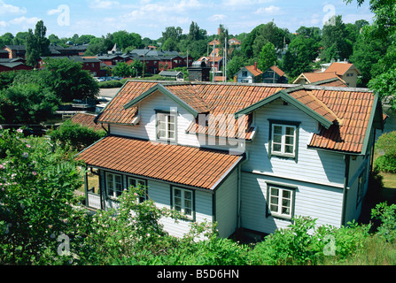 Vaxholm, a small town in archipelago near Stockholm, Sweden, Scandinavia, Europe - Stock Photo