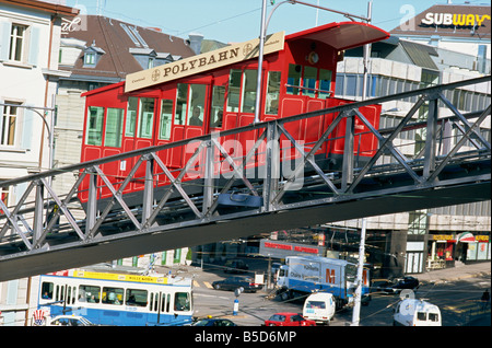 Polybahn, funicular railway, Zurich, Switzerland, Europe - Stock Photo