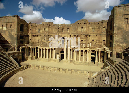 Roman theatre dating from the 2nd century AD, Bosra, UNESCO World Heritage Site, Syria, Middle East - Stock Photo