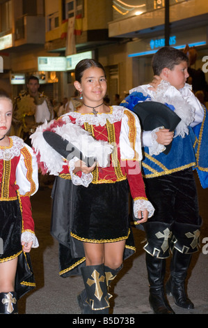Young Falleras in traditional Valencian costume during L ...