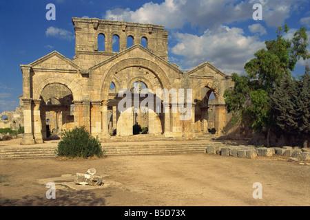 Basilica of San Simeon (Qala'at Samaan), Syria, Middle East - Stock Photo