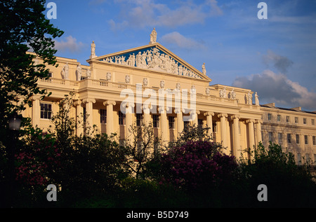 Cumberland Terrace, by John Nash, Regents Park, London, England, Europe - Stock Photo