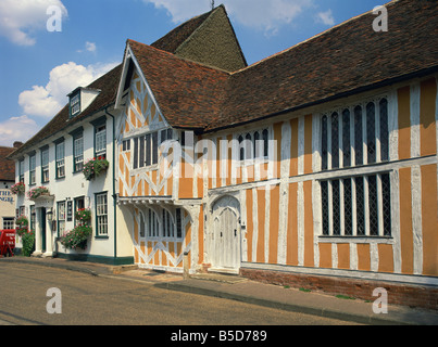 The Elizabethan style Little Hall, Lavenham, Suffolk, England, Europe - Stock Photo