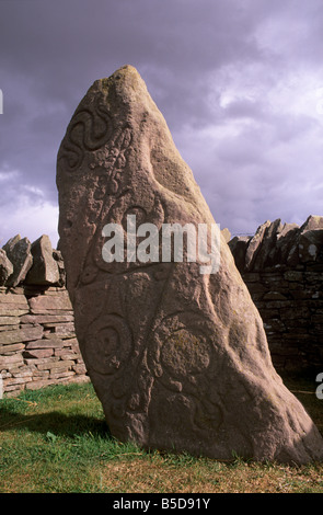 Stone with Pictish and early Christian symbols, Aberlemno Pictish Stones, Aberlemno, Angus, Scotland, Europe